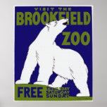 Poster del parque zoológico de Brookfield