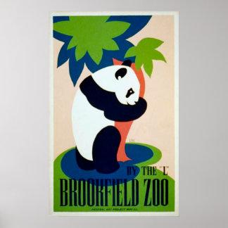 Poster del parque zoológico de Brookfield de la pa