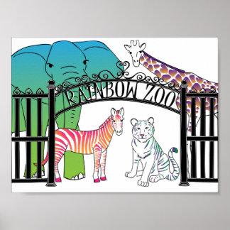 Poster del parque zoológico del arco iris