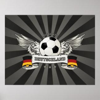 Poster del partidario del equipo nacional del fútb