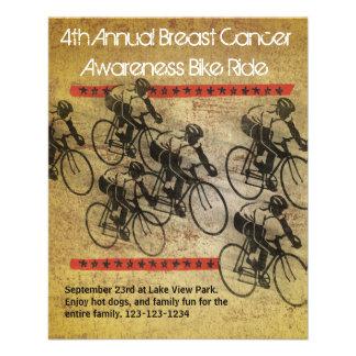 Poster del paseo de la bici tarjeta publicitaria