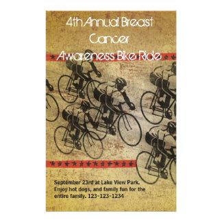 Poster del paseo de la bici tarjetas informativas
