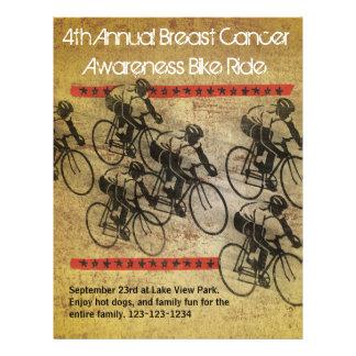 Poster del paseo de la bici tarjetas publicitarias