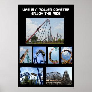 Poster del paseo de la montaña rusa póster