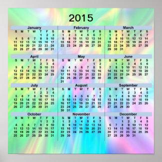 Poster del pastel de 2015 calendarios