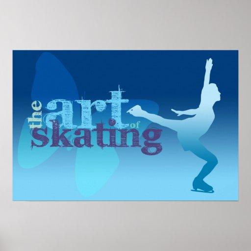 Poster del patinaje de hielo