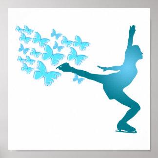 poster del patinaje de hielo del butterflyskater