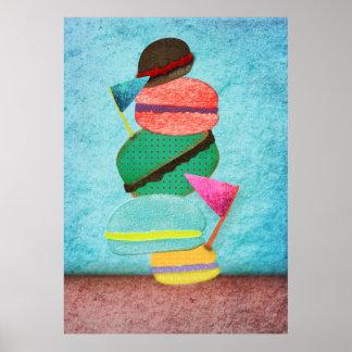 Poster del patisserie de Macarons Póster