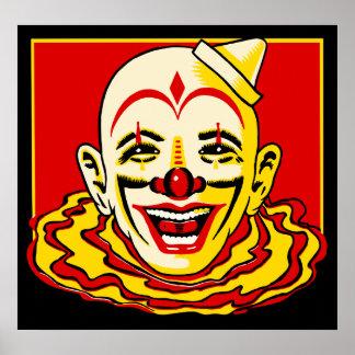 Poster del payaso de circo del vintage