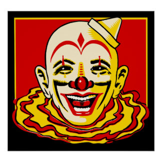 Poster del payaso de circo del vintage póster