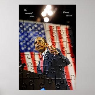 Poster del pedazo del rompecabezas de Obama