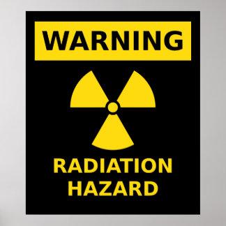 Poster del peligro de radiación