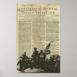 Poster del periódico de la travesía de Washington