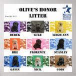 Poster del perrito de la litera del honor de la ac