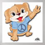 Poster del perrito de la paz