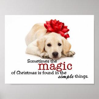 Poster del perrito del navidad