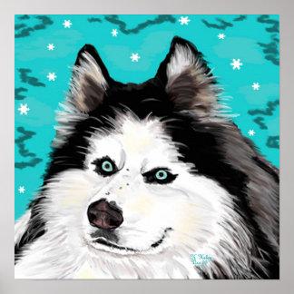 Poster del perro de la nieve