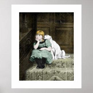 Poster del perro SMPOSTER del chica