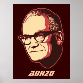 Poster del personalizable de Goldwater AuH2O
