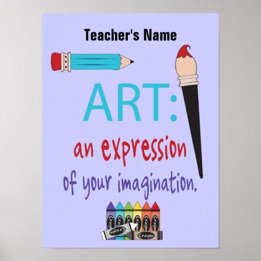 Poster del personalizable de la clase de arte