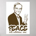 Poster del personalizable de la paz de Ron Paul