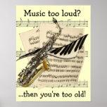 Poster del personalizable del diseño de la música