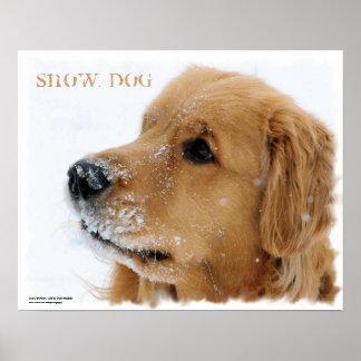 Poster del personalizable del perro de la nieve de