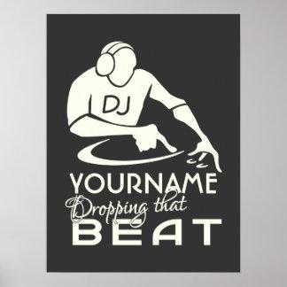 Poster del personalizado de DJ