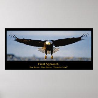 Poster del personalizado de Eagle calvo del acerca