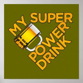 Poster del personalizado de la bebida del poder