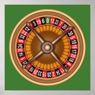 Poster del personalizado de la rueda de ruleta