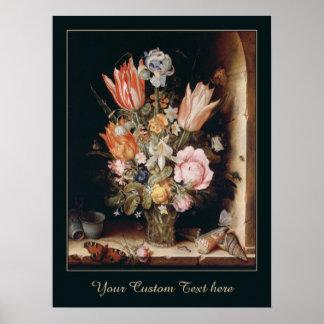 Poster del personalizado de las flores de Van den