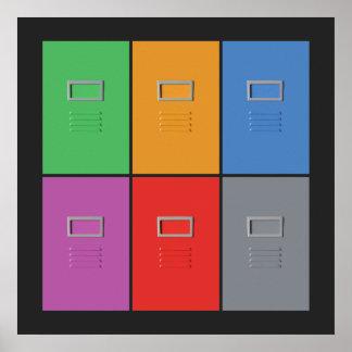 Poster del personalizado de los gabinetes de fiche
