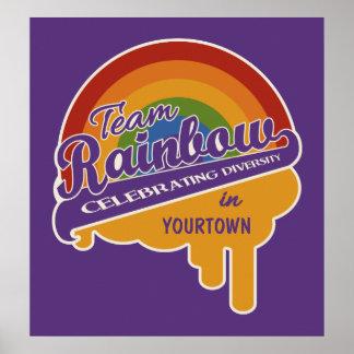 Poster del personalizado del arco iris del equipo