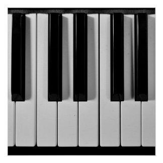 Poster del personalizado del teclado de piano perfect poster
