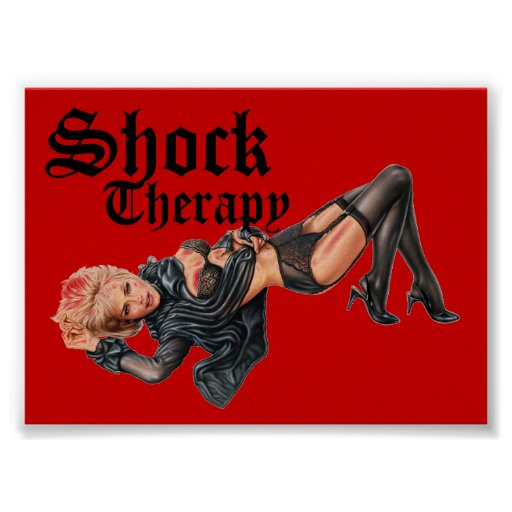 Poster del Pin-para arriba de la terapia de choque