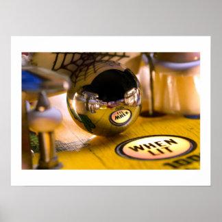 Poster del pinball de la vuelta de Spidy