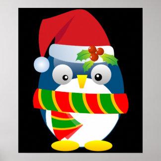 Poster del pingüino de Santa