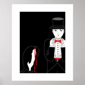 Poster del pingüino del Mime