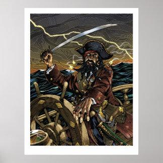 Poster del pirata de Blackbeard