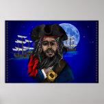 Poster del pirata y de la nave