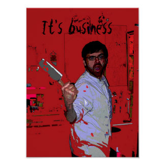 Poster del placer del cocinero italiano póster