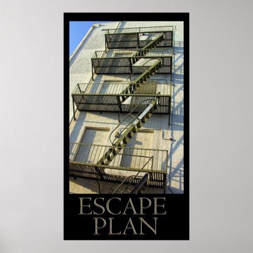 Poster del plan del escape