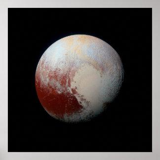 Poster del planeta enano Plutón por NASA New