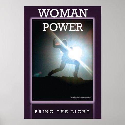 Poster del poder de la mujer