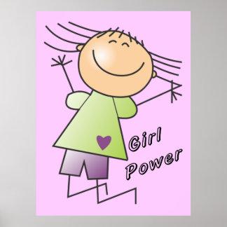 poster del poder del chica del palillo