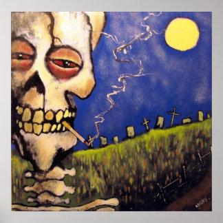 Poster del poeta del cementerio de Johnny enojado