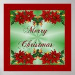 Poster del Poinsettia de las Felices Navidad