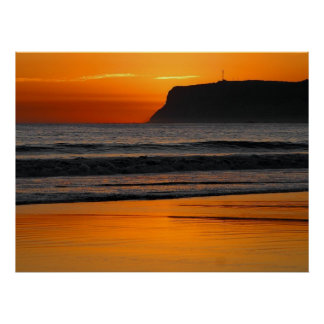 Poster del Point Loma de la puesta del sol de San