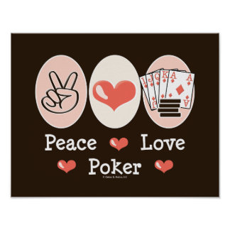 Poster del póker del amor de la paz